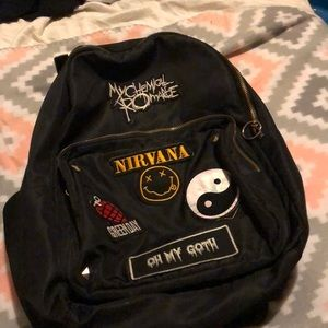 Back pack with patches on